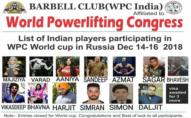 WPC India Nominations For WPC World Cup 2018, Russia