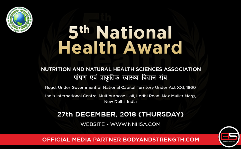 National Health Awards 2018 by Nutrition and Natural Health Sciences Association