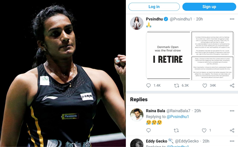 PV Sindhu posts 'I RETIRE': We want to say 'WE RETIRE' Now!