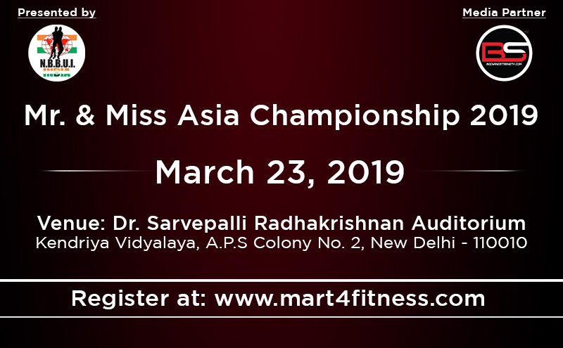 Get Geared Up For NBBUI Mr & Ms Asia 2019: March 23, 2019