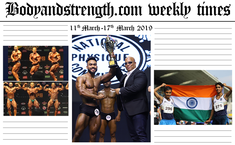 Bodyandstrength.com Weekly Times: 11th March to 17th March 2019